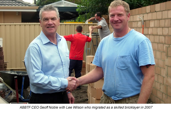 ABBTF CEO Geoff Noble with Lee Wilson