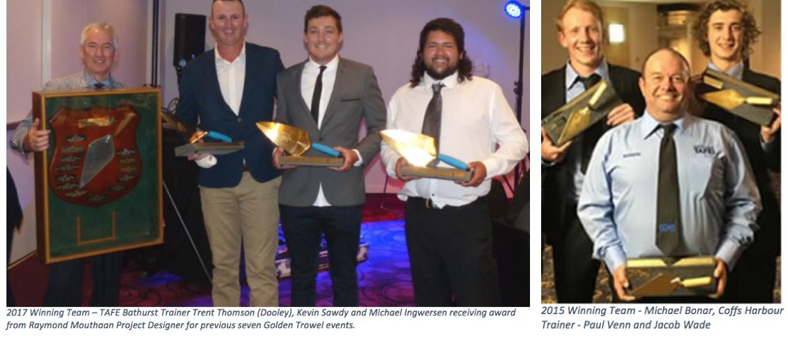 Golden Trowl Award Winners