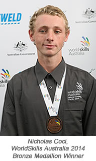 Nic Coci Bronze Medal - with caption - final