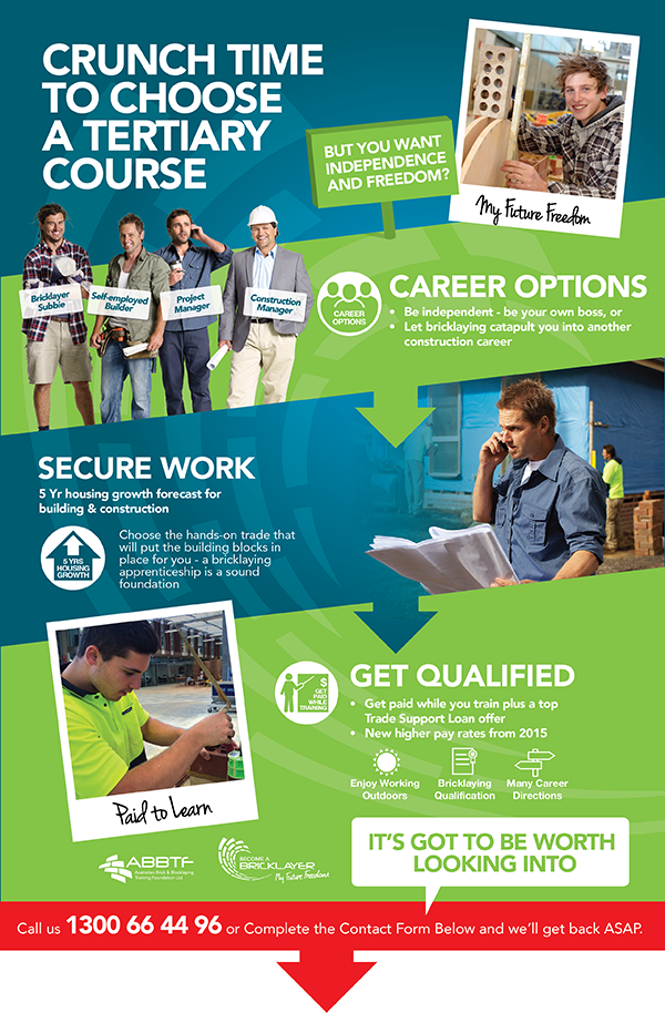 Career Infographic in Bricklaying