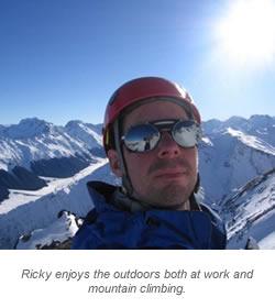 Ricky Ellis Photo Mountain Climbing with Caption #2
