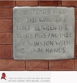 Plaque - Winston Churchill