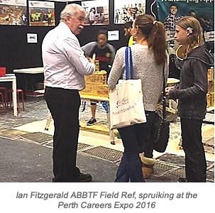 Ian Fitzgerald 2016 Perth Career Expo wth Caption