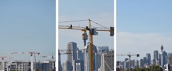 Sydney Skyline wth Cranes April 2016 3 Image Banner