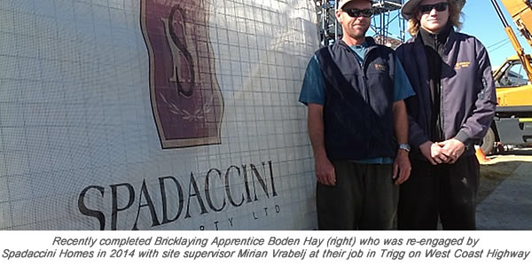 Boden Hay & Mirian Vrabelj Spadaccini Homes 2014 wth caption