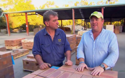 Jason Hodges from Better Homes and Gardens visits Namoi Valley Bricks