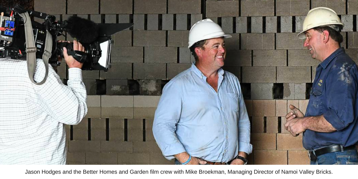 Jason Hodges from Better Homes and Gardens at Namoi Valley Bricks