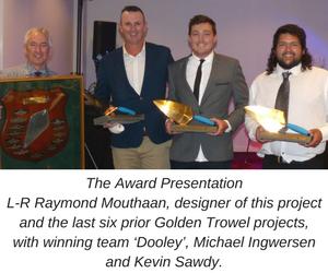 Bathurst Team Wins Golden Trowel Award