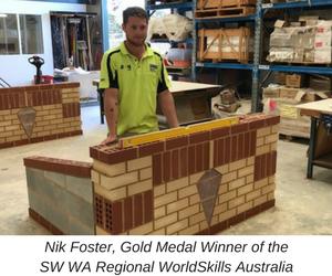 Nik Foster Gold Medal Winner WA Regional WorldSkills Australia