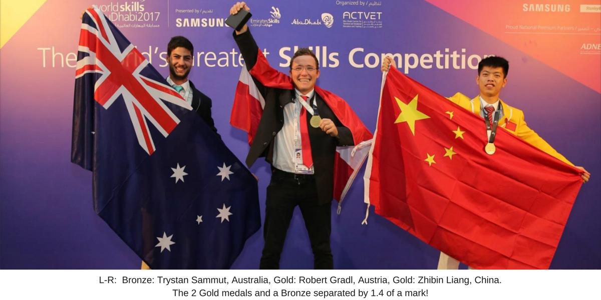 Trystan Sammut Bricklaying Bronze Medal at Worldskills International