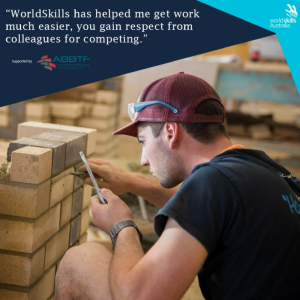 Bricklaying Skillaroo, Trystan Sammut at WorldSkills Internation, Abu Dhabi 2017
