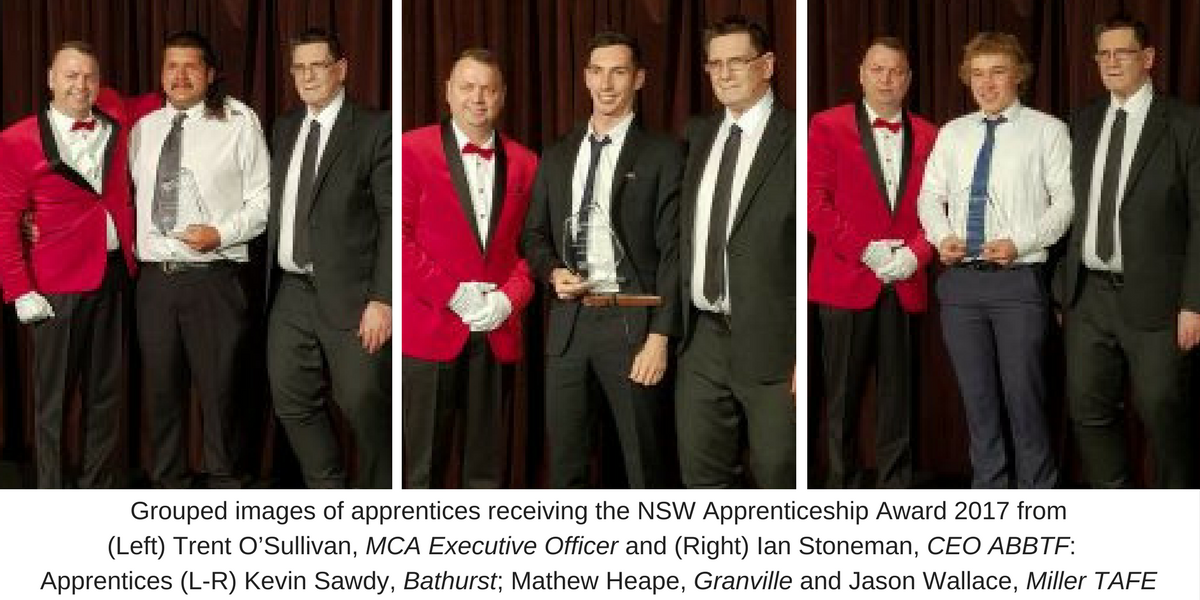 NSW Bricklaying Apprentices of the Year 2017